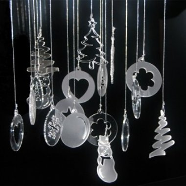 Accessori natalizi in plexiglass